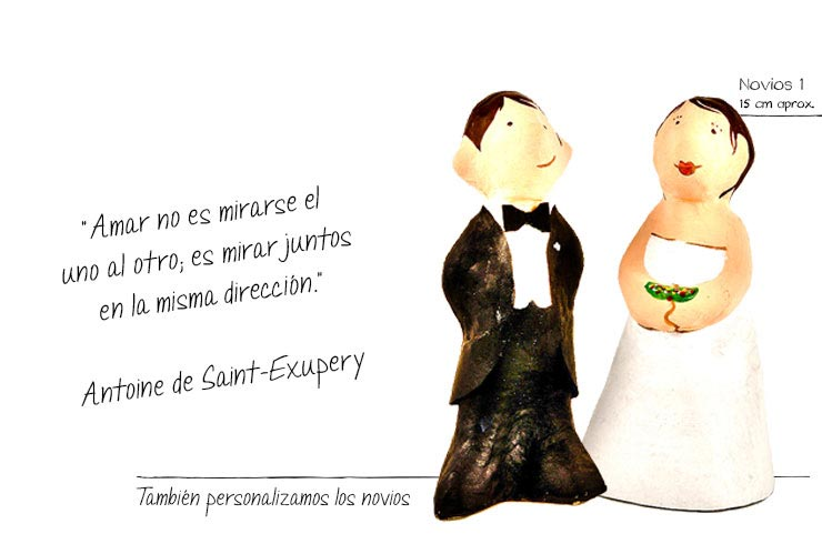 bodas figuras papel mache