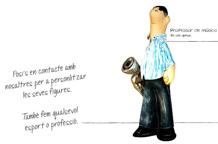 professor music figures paper mache