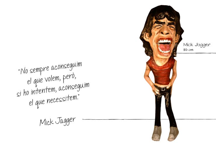 mike jagger figures paper mache