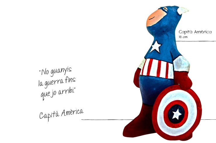 superhéroes capitan america figures paper mache