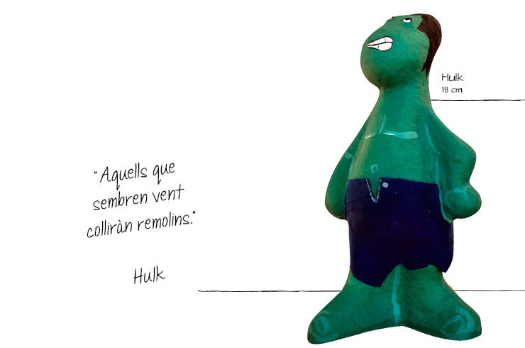 superhéroes hulk figures paper mache